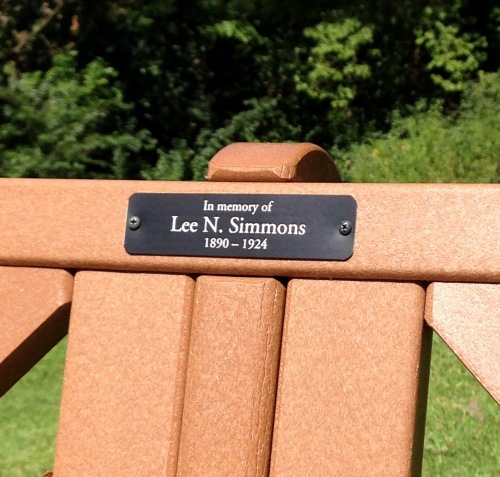 Bench inscription