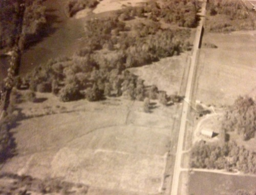 Aerial view of Christine's farm - c1940s