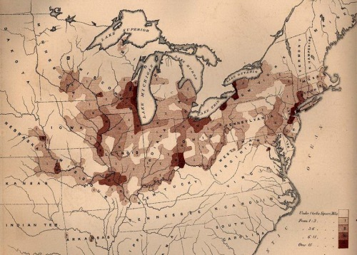 German immigrant distributions in 1800s