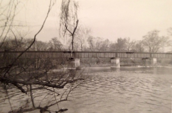 Railroad bridge from Lebline Woods - 1960